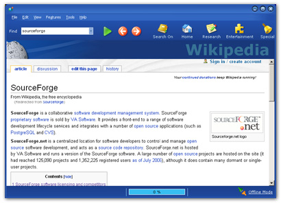 WikiBrowse 1.0 User Interface